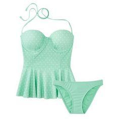 Peplum 2-Piece Swimsuit mint