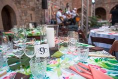 Our new Bali Coral linens really worked for the Havana themed party at the Castello! Thanks Antionette Freeman and Celeste at Encore Events for setting this up!