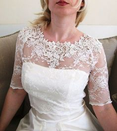 KISS Me In BARILOCHE bridal lace top ivory lace top by angelikaliv, $84.90