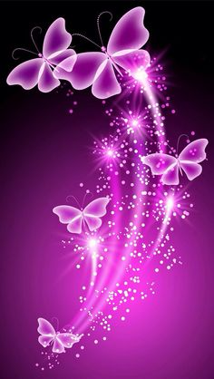 Pink Butterflies Iphone Wallpaper Background Butterfly Flowers Purple Butterfly Butterfly Painting Butterfly Print