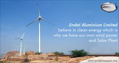 Reducing the carbon footprint is important and has influenced the business policies of many companies today. After all, Go Green, Reduce, Reuse and Recycle are the buzzwords in every industry today. Jindal Aluminium Limited has always been eco-friendly and we believe in clean energy which is why we have our own wind power and solar plant.  Visit http://www.jindalaluminium.com/green-energy.php for details. #JindalAluminiumLimited #GoGreen