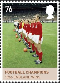 Stamp: England's winning World Cup football team, 1966 (United Kingdom of Great Britain & Northern Ireland) (The Age of the Windsors) Mi:GB Uk Stamps, Soccer Art, Postage Stamp Collection, Postage Stamp Art, House Of Windsor, Kingdom Of Great Britain, Family Memories, Penny Black, Stamp Collecting