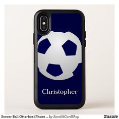 Shop Soccer Ball Otterbox iPhone XS Max Case created by SocolikCardShop. Iphone 11 Pro Case, Iphone 8 Plus, Iphone Cases, Round Logo, Apple Iphone 6, Soccer Ball, Typography, Deathly Hallows, Carolina Panthers