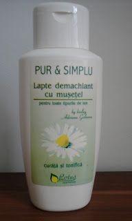 Cosmetics & Life: Review: Laptele demachiant cu mușețel Pur & Simplu...
