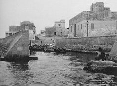 Old Malta. Pretty sure this is St Pauls Bay, showing the old Harbour Hotel on left.