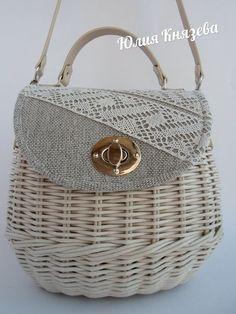 Knitted Bags, Weaving, Basket, Baskets, Loom Weaving, Crocheting, Knitting, Hand Spinning, Soil Texture