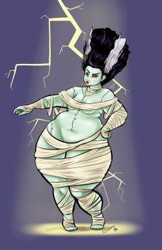Happy Halloween! Here take this nakie sexy Bride of Frankenstein. art by Debu.rabu
