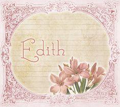 20+ mejores imágenes de Edith | significados de los nombres, nombres,  significado del nombre edith