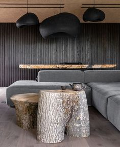 """""""Imperfect beauty"""" – that is how the design team from Sergey Makhno Architects describe their very unusual, yet trend defining project. And we must agree, Low Platform Bed, Harmony Design, Dining Corner, Interior And Exterior, Interior Design, Dark Interiors, Interior Photography, Wabi Sabi, Amazing Architecture"""