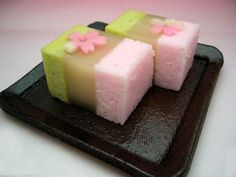 (177) rosé and green wagashi | 和菓子 | Pinterest