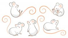 Manifestation Law Of Attraction Discover Set Of Hand Drawn Rats Mouse In Different Poses. Set of hand drawn rats mouse in differe. Cartoon Drawings, Easy Drawings, Animal Drawings, Drawing Sketches, Baby Mouse, Cute Mouse, Mouse Illustration, Mouse Tattoos, Cute Rats