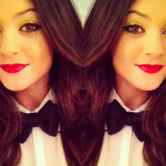 Kylie Jenner! Love the bow tie and the makeup ! so cute <3