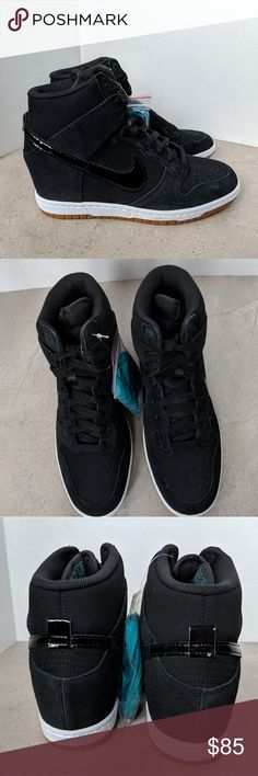 sports shoes a7abe 60b6d Black NIKE Sneakers Dunk Sky Hi Essential Dunk Sky Hi Essential  Black Gum   Wedge