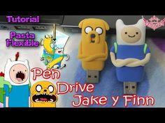 647b265e101 Tutorial  Personaliza tus Pen Drives en forma de Jake y Finn con Pasta  Flexible Foamy Moldeable ♥