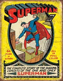 Superman - Cover - No.1 | Comic Book and Super Heroes Signs | Tin Signs | Wall Decor | Pictures | Art | Pictures Frames and More | Winnipeg | Manitoba | MB | Canada