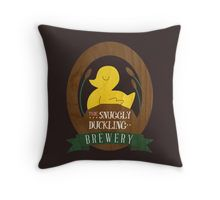 The Snuggly Duckling Brewery Throw Pillow