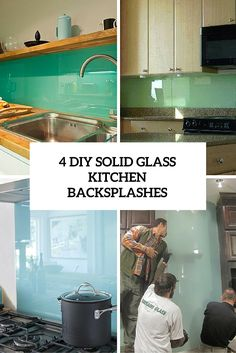 How to Install a Solid Glass Backsplash Diy network Glass and