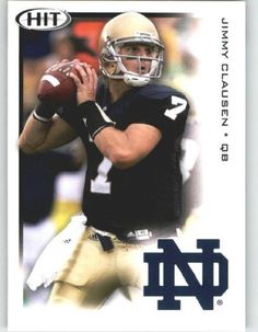 Jimmy Clausen QB / Notre Dame (RC - Rookie Card) FIRST EVER NFL Trading Card - 2010 Sage HIT Football Card Shipped in Protective Screwdown Case by Sage. $7.99. Jimmy Clausen QB / Notre Dame (RC - Rookie Card) FIRST EVER NFL Trading Card - 2010 Sage HIT Football Card Shipped in Protective Screwdown Case