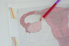 Simply print out a design you like, print out some graph paper from here for free, and get to drawing! See the full tutorial on The Homesteady here.Get this downloadable PDF print from thehomesteady on Etsy for $2.