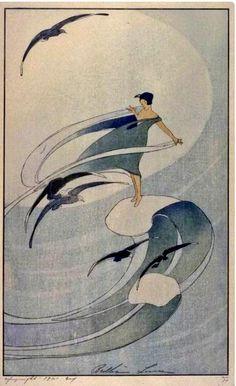 Bertha Lum(USA 1869ー1954)「wind Sprite」(1917)