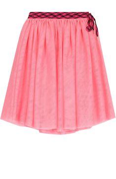 Детская юбка свободного кроя с контрастным поясом Marc Jacobs розового цвета, арт. W13073/6A-12A в ЦУМ | Фото №1