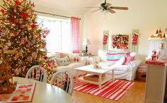 hopscotch lane - love this tree and gingham panels!
