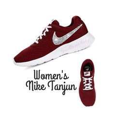6c0769698 Nike Tanjun Women s Dark Red ~ Bedazzled Nike ~ Blinged Nikes ~ Rhinestone  Nike - Swarovski Nikes - Custom Nikes - SparkleMeBaby2u