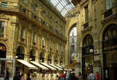 Galleria Vittorio Emanuele II—Milan, Italy The Galleria Vittorio Emanuele II, a two-storied columnade in the center of Milan, has the distin...