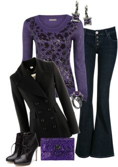 """""""Purple contest"""" by forestcat-lsc ❤ liked on Polyvore"""