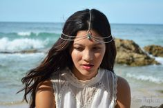 Chain Headpiece Boho Head Jewelry Bohemian by FunnyPeopleCo