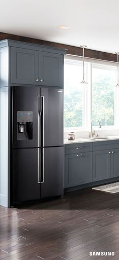 black can work wonders for your wardrobe so just imagine what it can do for your kitchen with black stainless steel appliances like the flex - Stainless Steel Kitchen Cabinets