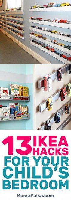 13 Simple DIY IKEA Hacks for Any Kids' Room #Diyhomedecor