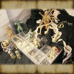 What's Bubbling At Cauldron Craft Miniatures?: Dollhouse Miniature Tutorial: How to find spooky bits to make Halloween miniatures