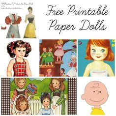 Free Printable Paper Dolls! Big list of all kinds of different dolls you can print, cut, and play with!