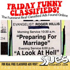 Funny Classified Ads