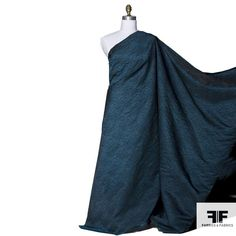 30/yd, Texture Woven Brocade - Blue