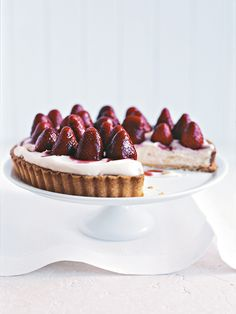 sherry-soaked strawberry tart