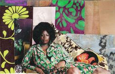 """Mickalene Thomas, Afro Goddess Looking Forward (2006), courtesy of Lehmann Maupin Gallery, New York 