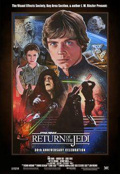"""posterosaurus: """"Mark Raats Star Wars VI: Return of the Jedi, 30th Anniversary (1983-2013) """""""