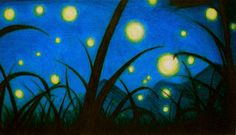 "2nd in a series of drawings inspired by ""Fireflies"" by Owl City - colored pencil"