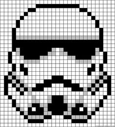 Stormtrooper Star Wars perler bead pattern by sherri