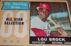 I will sell my 1968 Lou Brock topps for $5.00