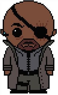 Cross Stitch Charts Looking for your next project? You're going to love Marvel: Nick Fury by designer Shylah Addante. Cross Stitching, Cross Stitch Embroidery, Embroidery Patterns, Hama Beads Patterns, Loom Patterns, Cross Stitch Designs, Cross Stitch Patterns, Marvel Cross Stitch, Transformers