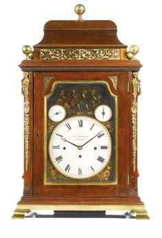 Elliott Londres Triple Fusee 8 Día Westminster Chimes Caoba Soporte Reloj Muebles Antiguos Y Decoración Arte Y Antigüedades