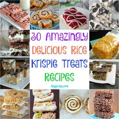 30 Amazingly Delicious Rice Krispie Treats Recipes for Some Yummy Times - homede. - All About Home Ideas - Reis Rezepte Rice Krispy Treats Recipe, Rice Crispy Treats, Krispie Treats, Rice Krispies, Yummy Treats, Sweet Treats, Just Desserts, Delicious Desserts, Dessert Recipes