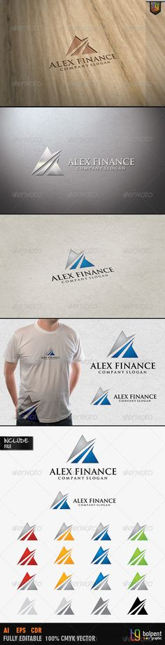 Alex Finance - Logo Design Template Vector #logotype Download it here: http://graphicriver.net/item/alex-finance-logo-template/4115157?s_rank=360?ref=nesto