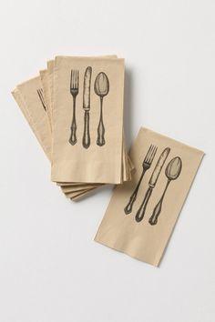 anthro. Dinner Setting Paper Napkins