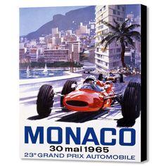 """Monaco 1965 (16""""W x 20""""H x 1.5""""D)"""