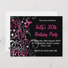 Shop Personalised Birthday Invitations created by SiennaMai. Personalized Birthday Invitations, Zazzle Invitations, Invites, Professional Business Card Design, 30th Birthday Parties, Throw A Party, You Are Invited, Create Your Own Invitations, Rsvp