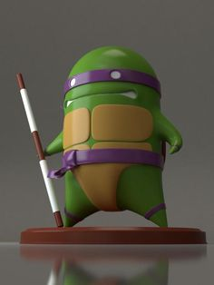 Donatello. Would work great for my desk and I remember loving the TMNT when I was a kid! That and Inspector Gadget.